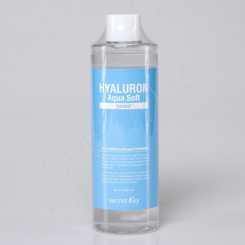 Тонер гиалуроновый для лица Secret Key Hyaluron Soft Micro-Peel Toner - 500 мл