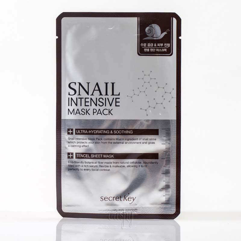 Тканевая маска с муцином улитки Secret Key Snail Intensive Mask Pack - 20 г