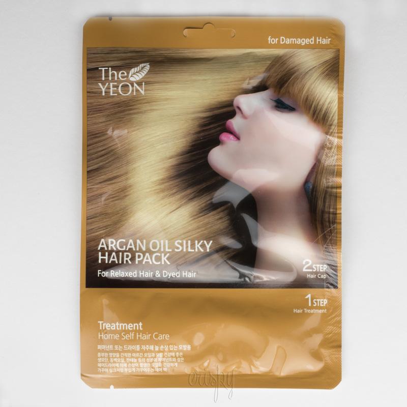 Маска для волос с аргановым маслом увлажняющая, с эффектом разглаживания Argan Oil Silky Hair Pack The YEON - 20 г