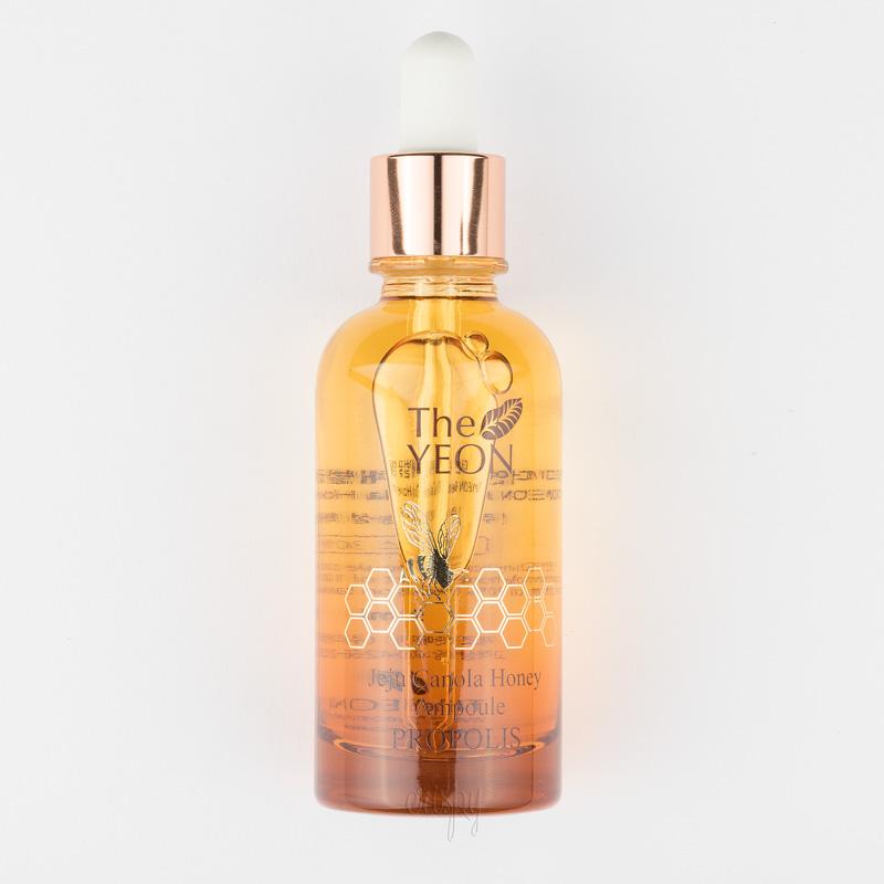 Ампульная сыворотка с рапсовым медом, прополисом и пыльцой Jeju Canola Honey Ampoule Propolis The YEON