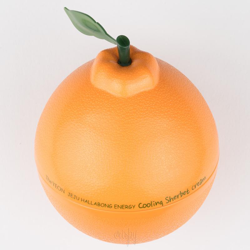 Крем для лица увлажняющий с экстрактом мандарина Jeju Hallabong Energy Cooling Sherbet Cream The YEON