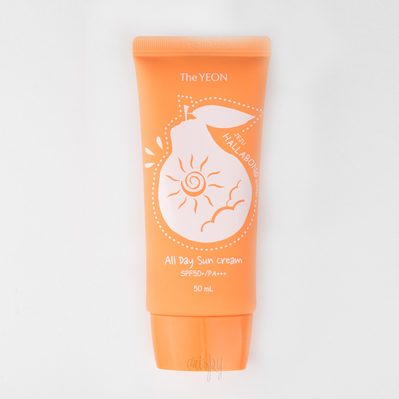 Солнцезащитный крем The Yeon Jeju Hallabong Energy All day Sun Cream SPF 50+/PA+++ 50 мл