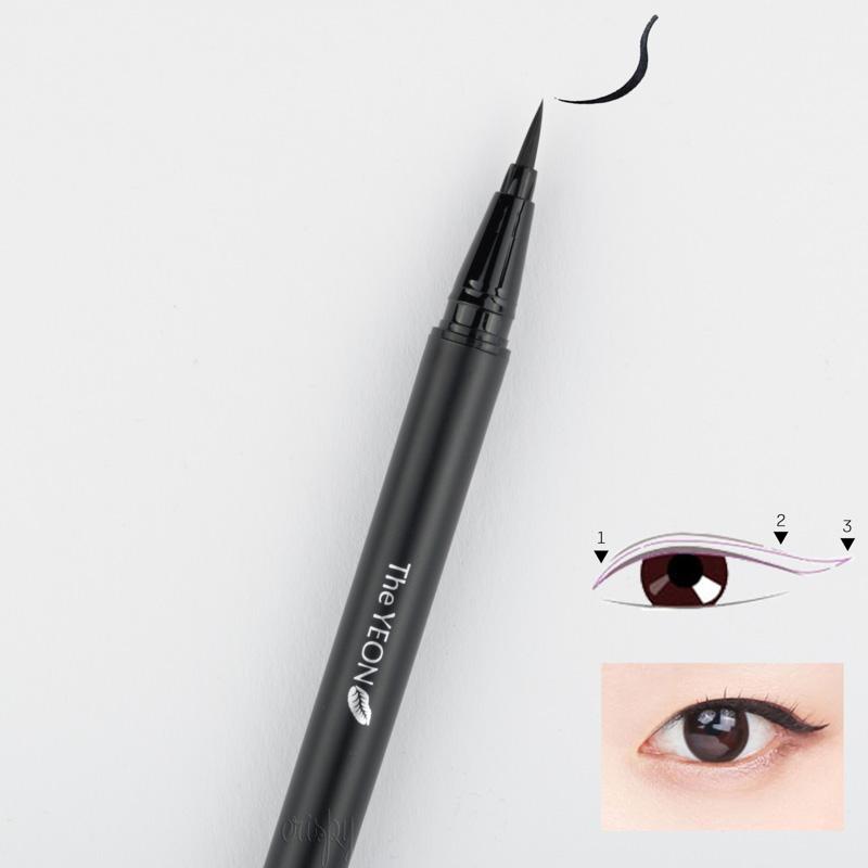 Суперстойкая кисть-лайнер для подводки глаз NO Smudge Eyeliner Pen The YEON - 0,6 г