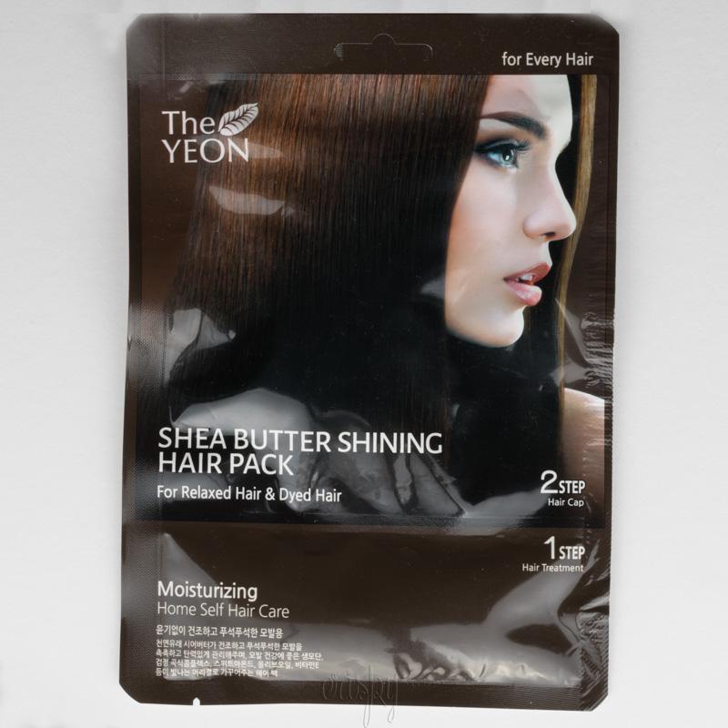 Интенсивно восстанавливающая сильно поврежденные волосы маска Shea Butter Shining Hair Pack The YEON - 20 г