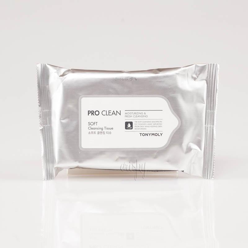 Очищающие салфетки для лица Tony Moly PRO CLEAN SOFT CLEANSING TISSUE - 15 шт. - Фото №2