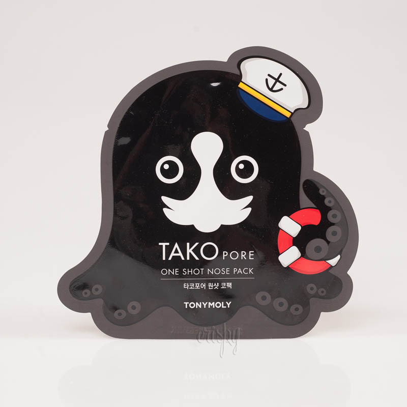 Патч для очищения носа от черных точек Tony Moly Tako Pore One Shot Nose Pack - 1 шт. - Фото №2