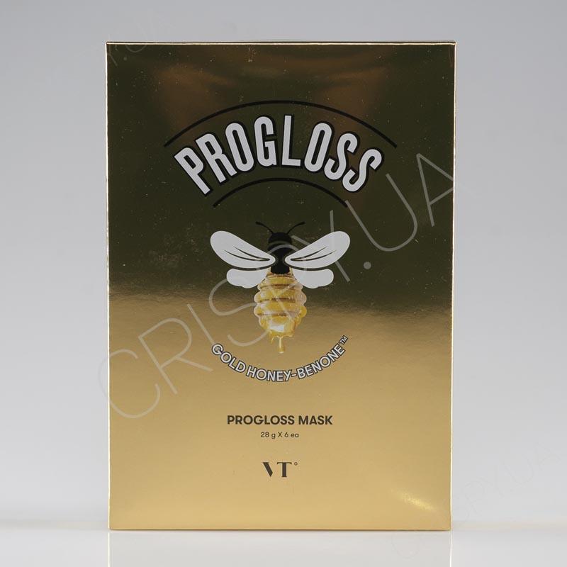 Набор тканевых масок для огрубевшей кожи лица VT Cosmetics PROGLOSS MASK - 6*28 мл